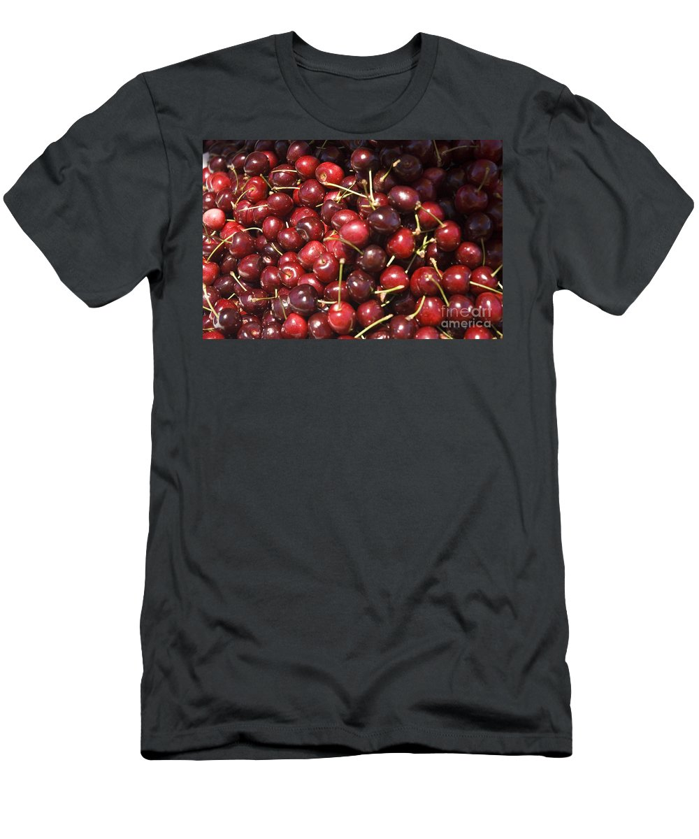 Cherries Men's T-Shirt (Athletic Fit) featuring the photograph Red Cherries by Tim Mulina