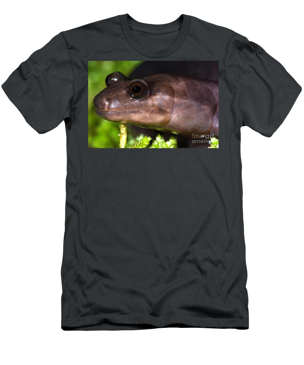 Red Hills Salamander Men's T-Shirt (Athletic Fit) featuring the photograph Red Hills Salamander by Dant� Fenolio