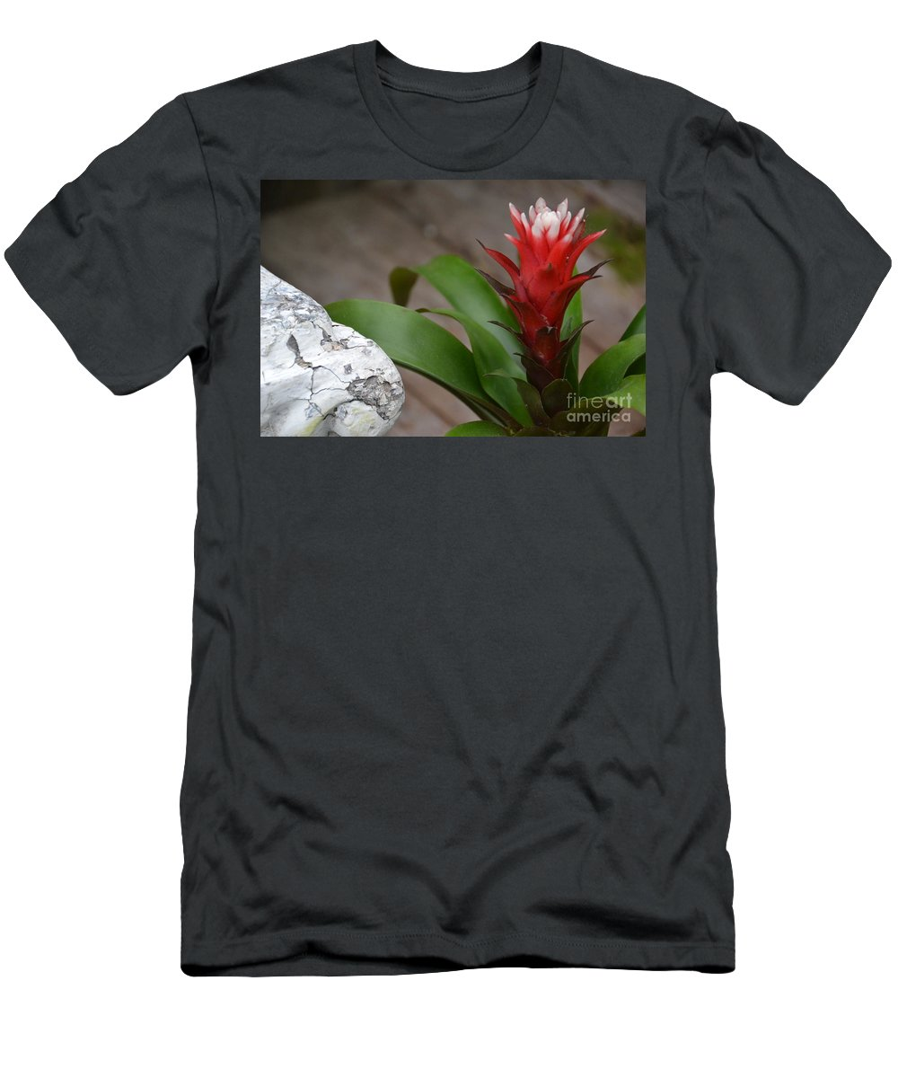 Red Men's T-Shirt (Athletic Fit) featuring the photograph Red Spikes by Bonnie Myszka