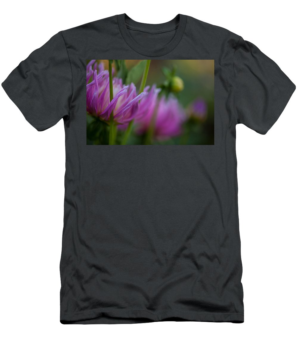 Flower Men's T-Shirt (Athletic Fit) featuring the photograph Restrained by Mike Reid