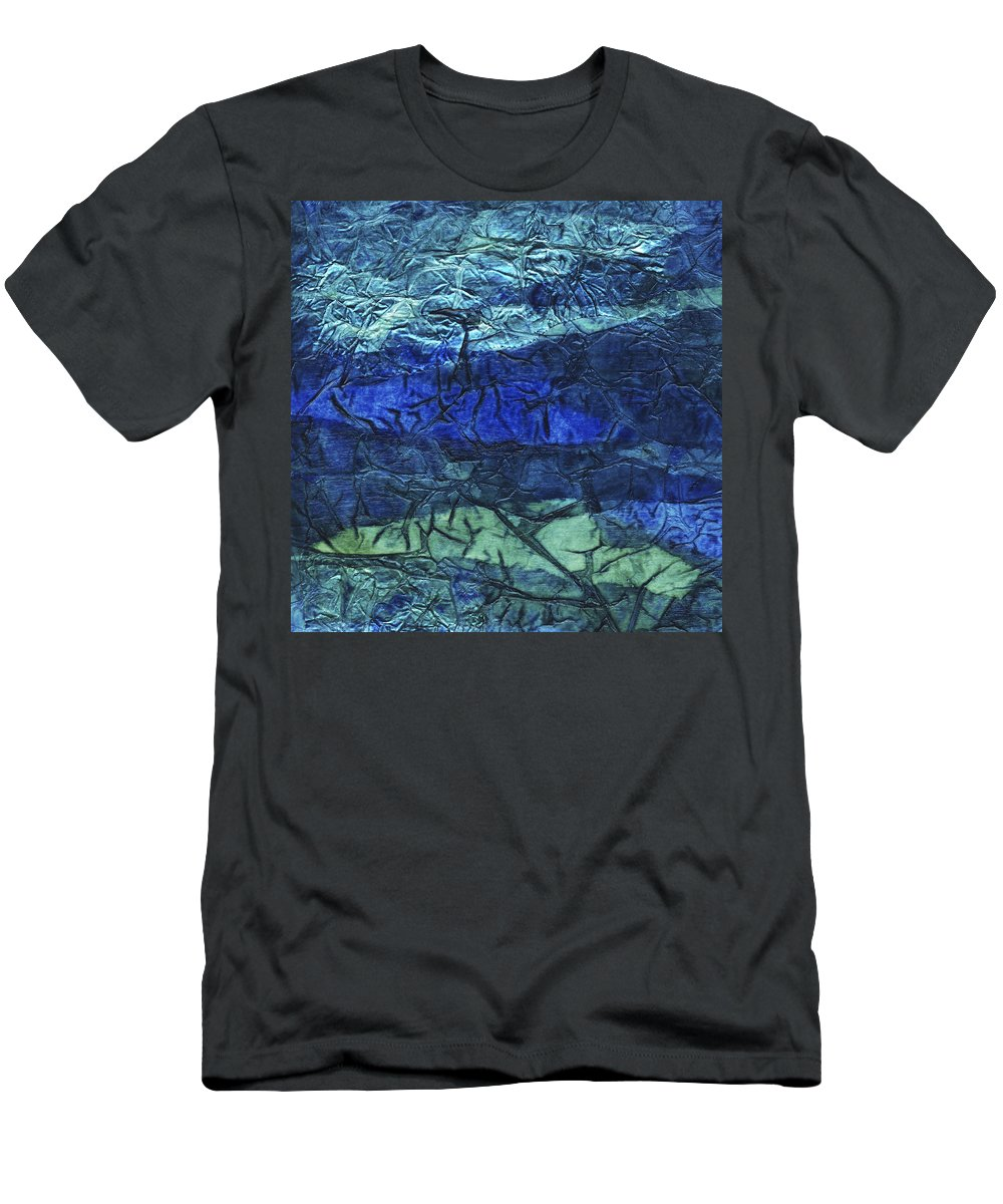 Abstract Men's T-Shirt (Athletic Fit) featuring the mixed media Rhapsody Of Colors 48 by Elisabeth Witte