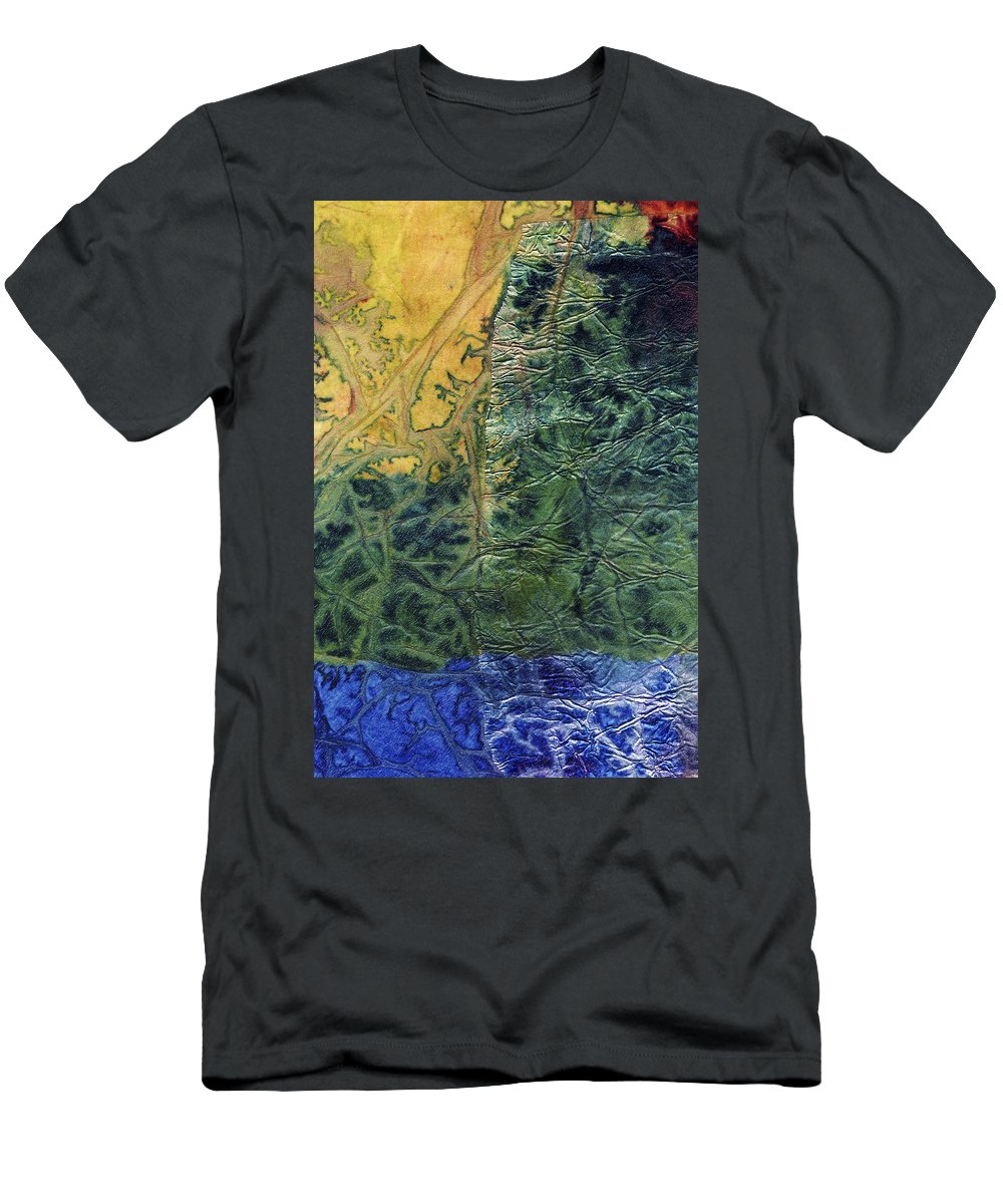 Abstract Men's T-Shirt (Athletic Fit) featuring the mixed media Rhapsody Of Colors 58 by Elisabeth Witte
