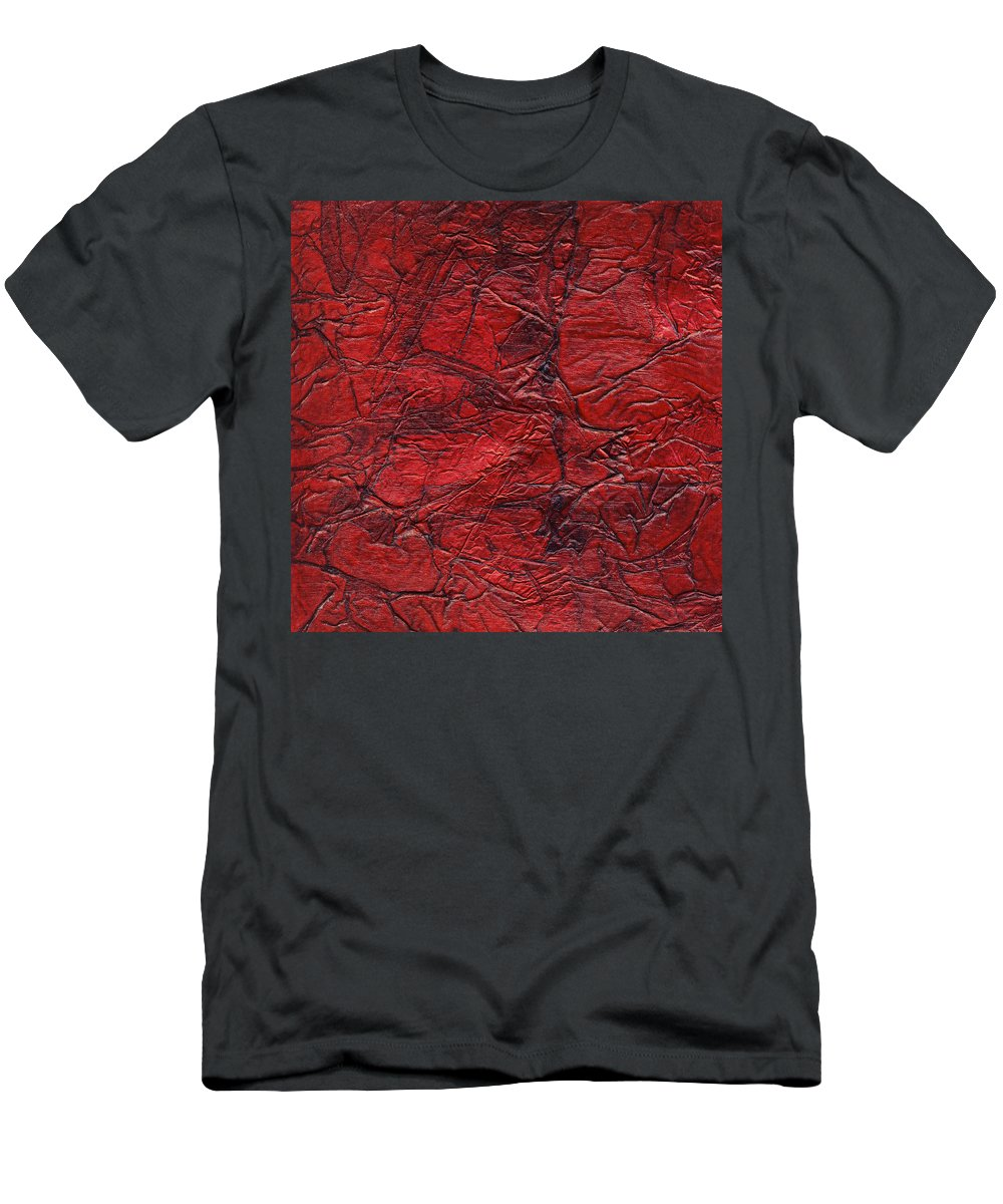 Abstract Men's T-Shirt (Athletic Fit) featuring the mixed media Rhapsody Of Colors 59 by Elisabeth Witte