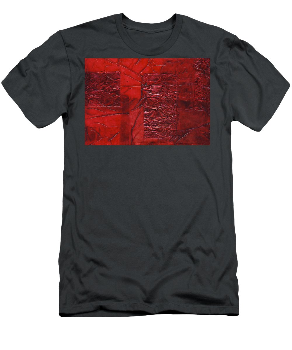 Abstract Men's T-Shirt (Athletic Fit) featuring the mixed media Rhapsody Of Colors 70 by Elisabeth Witte