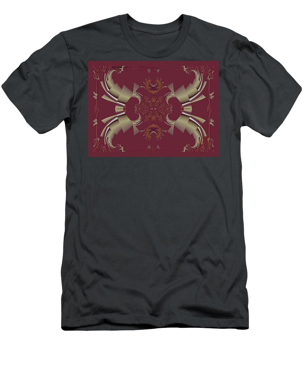 Fractal Men's T-Shirt (Athletic Fit) featuring the photograph Ribbons To Claws by Mother Nature