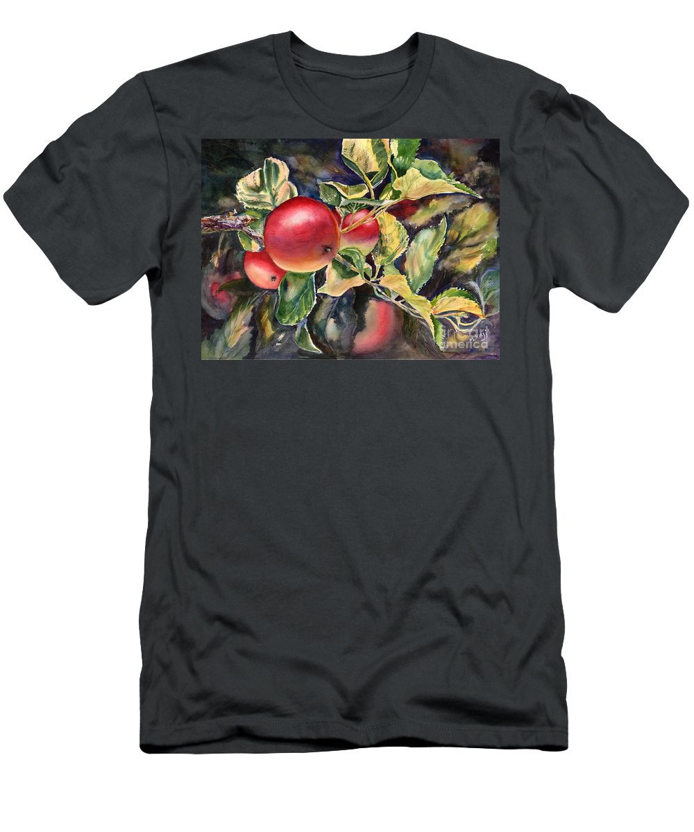 Apple Men's T-Shirt (Athletic Fit) featuring the painting Ripe For The Picking by Mohamed Hirji