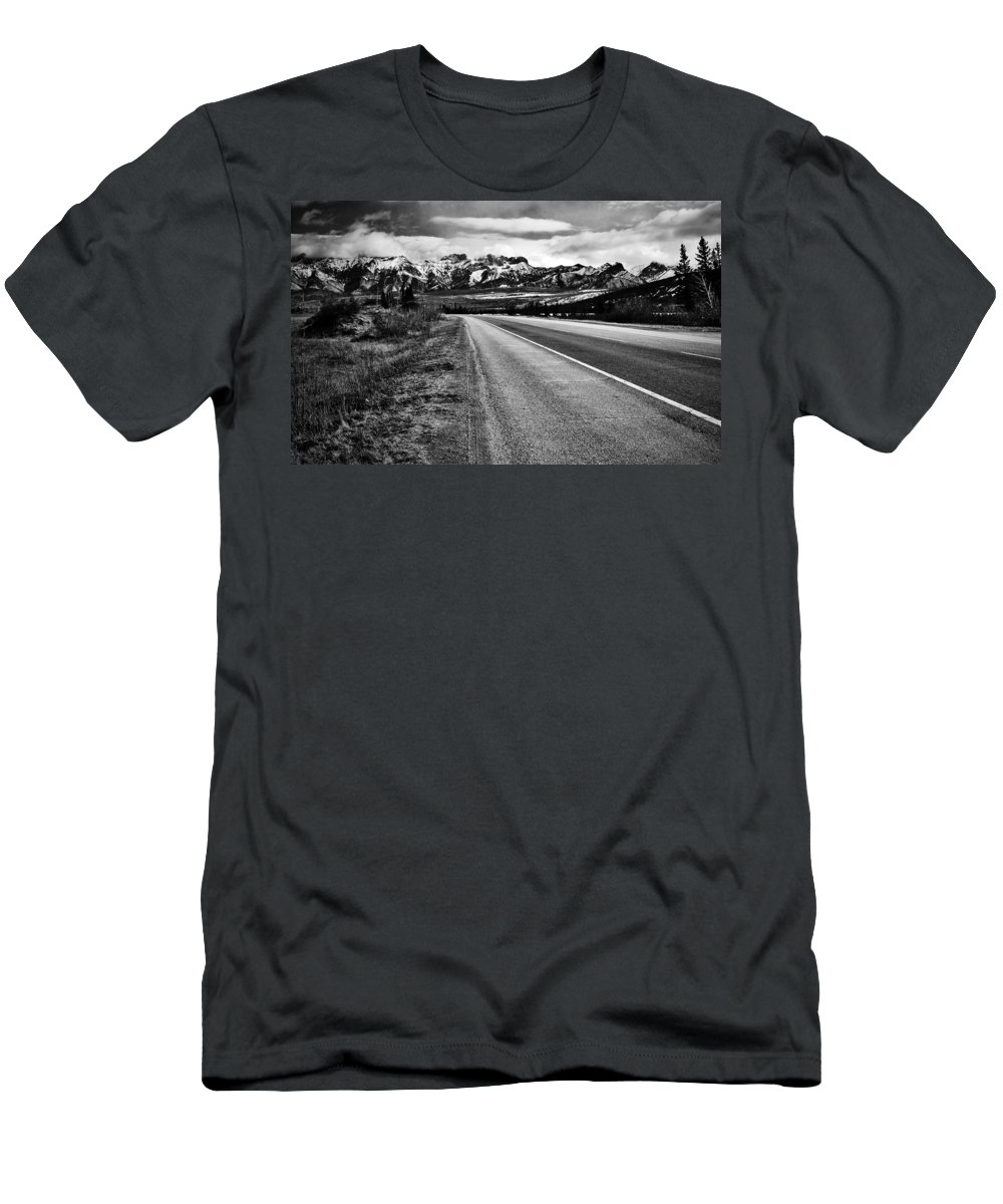 Street Photography Photographs Framed Prints Photographs Framed Prints Men's T-Shirt (Athletic Fit) featuring the photograph Road To Rocks by The Artist Project