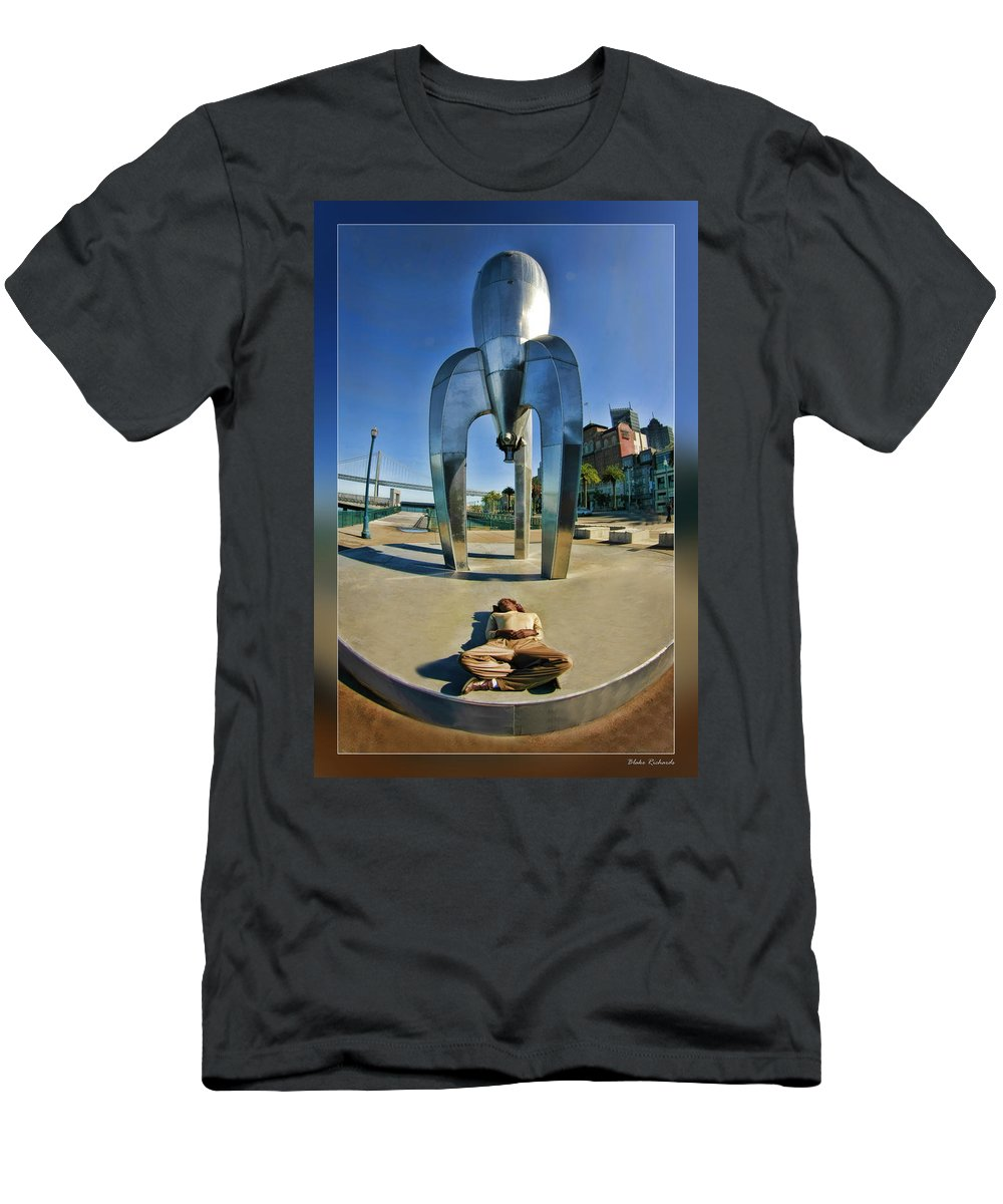 Art Photography Men's T-Shirt (Athletic Fit) featuring the photograph Rocket Man by Blake Richards