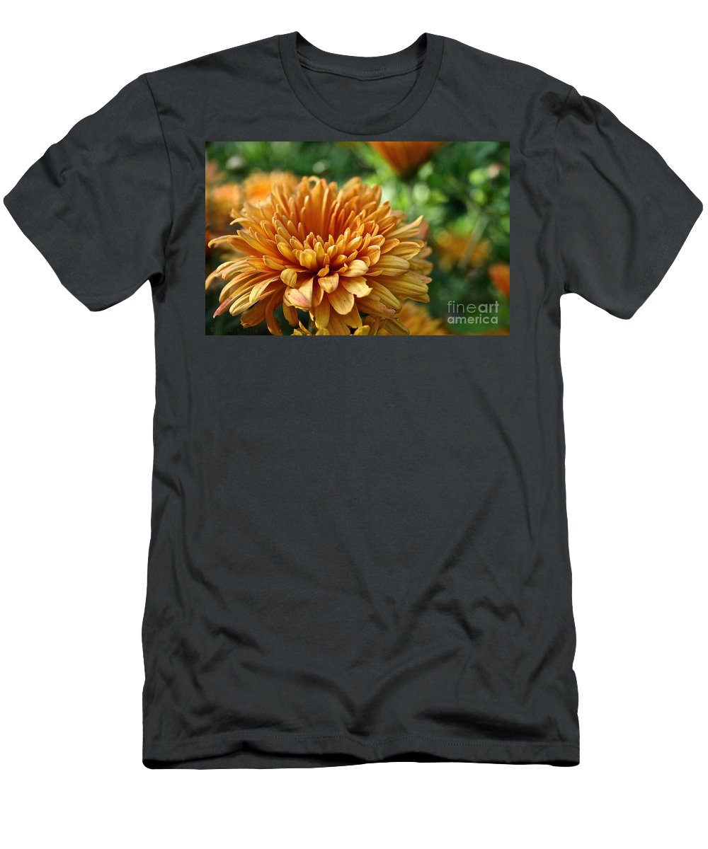Plant Men's T-Shirt (Athletic Fit) featuring the photograph Rosy Glow Mum by Susan Herber