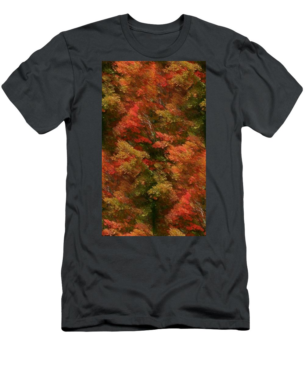 Men's T-Shirt (Athletic Fit) featuring the photograph Rustling Autumn Leaves by Barbara S Nickerson