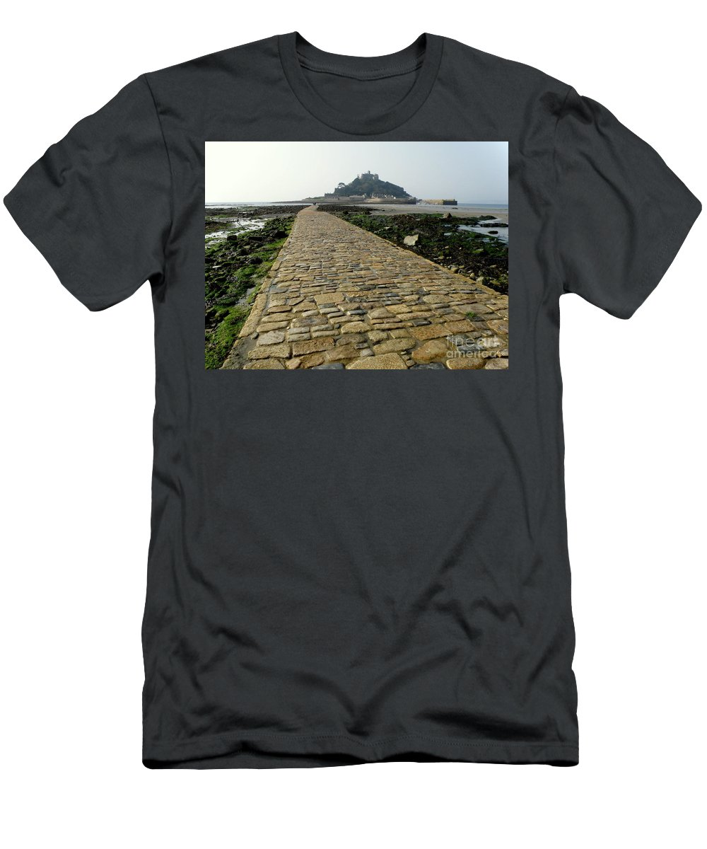 Landscape Men's T-Shirt (Athletic Fit) featuring the photograph Saint Michael's Mount by Lainie Wrightson