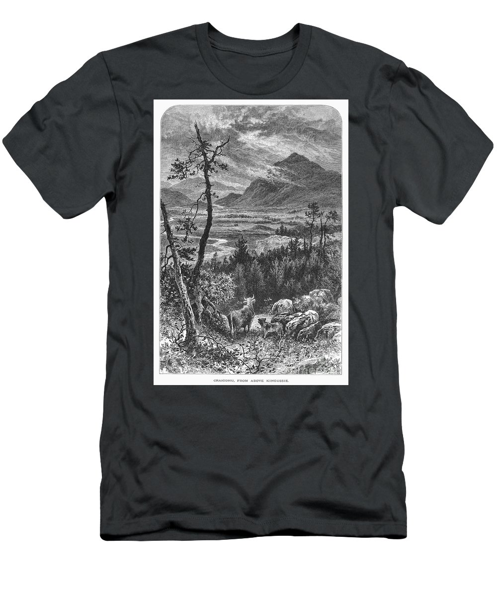 1875 Men's T-Shirt (Athletic Fit) featuring the photograph Scotland: Spey Valley by Granger