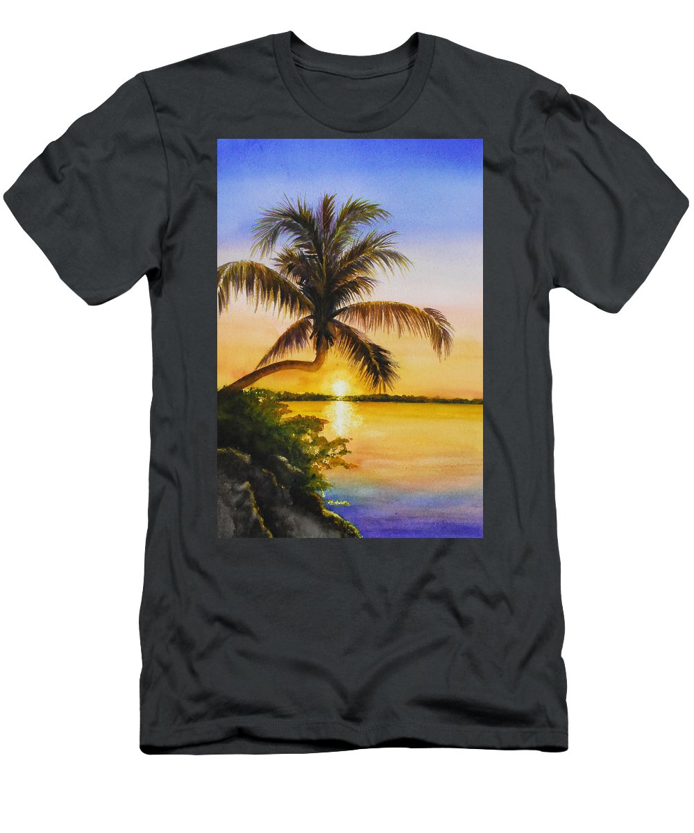 Florida Keys Men's T-Shirt (Athletic Fit) featuring the painting Serenity by Terry Arroyo Mulrooney