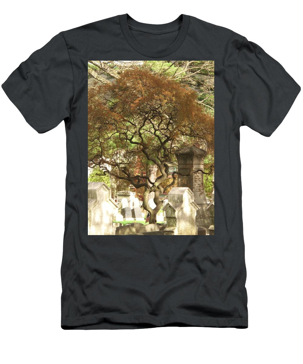 Graveyard Men's T-Shirt (Athletic Fit) featuring the photograph Shade For The Weary by Michele Nelson