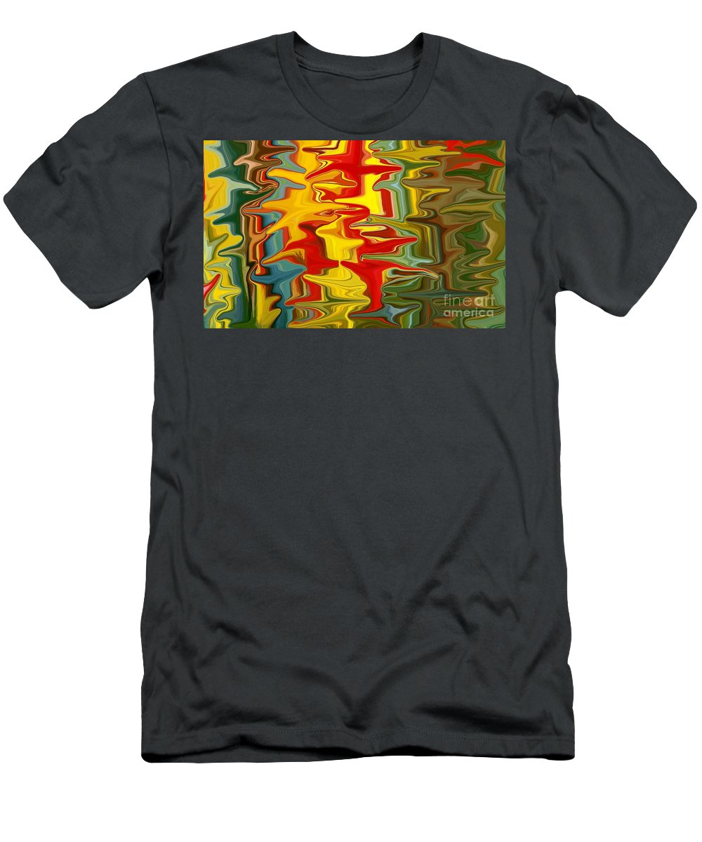 Background Men's T-Shirt (Athletic Fit) featuring the mixed media Shimmer by Chris Butler