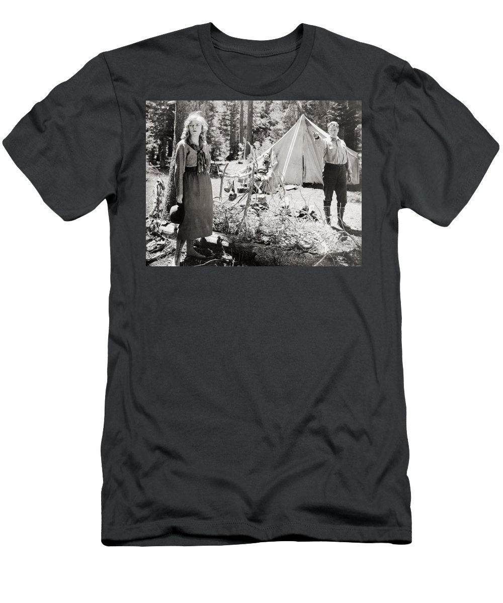 -camping- Men's T-Shirt (Athletic Fit) featuring the photograph Silent Still: Camping by Granger