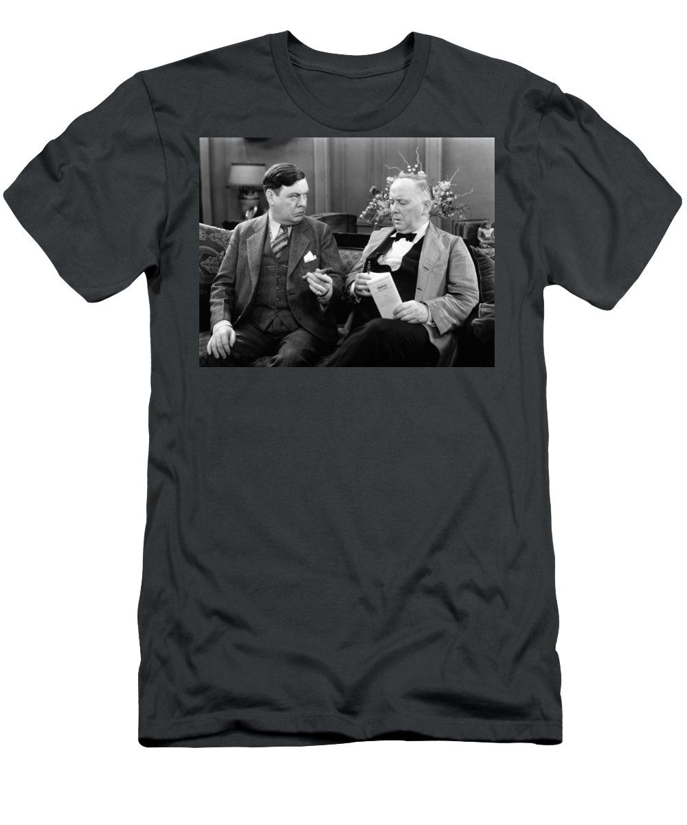 1920s Men's T-Shirt (Athletic Fit) featuring the photograph Silent Still: Men by Granger