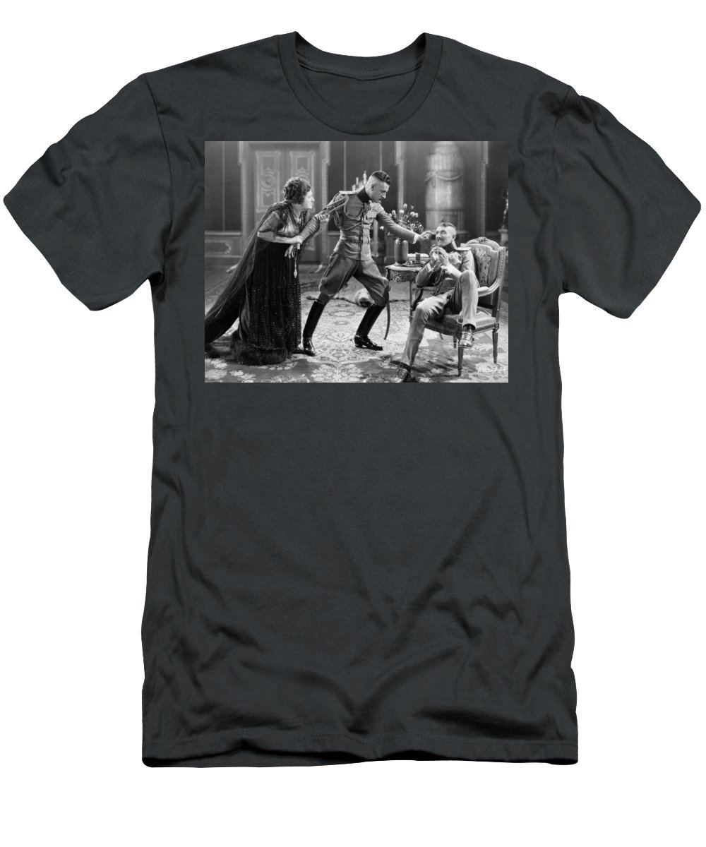 -miscellaneous Silent Films- Men's T-Shirt (Athletic Fit) featuring the photograph Silent Still: Soldier by Granger