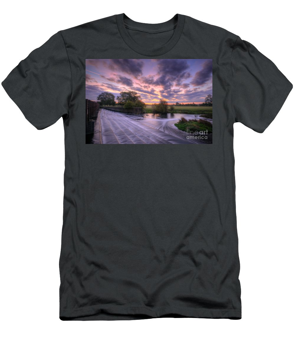 Hdr Men's T-Shirt (Athletic Fit) featuring the photograph Silky Steps by Yhun Suarez