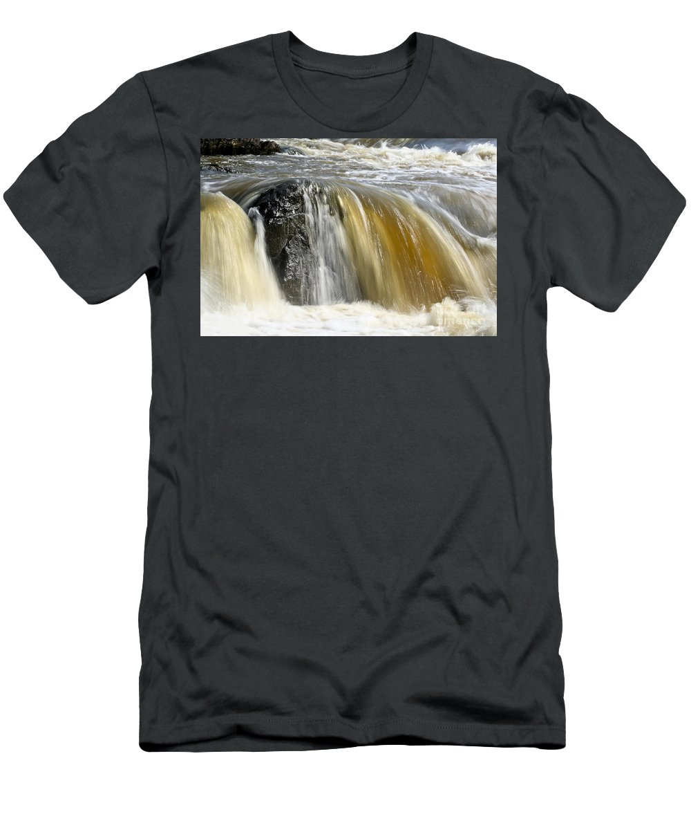 Rapids Men's T-Shirt (Athletic Fit) featuring the photograph Silky Waters by Teresa Zieba