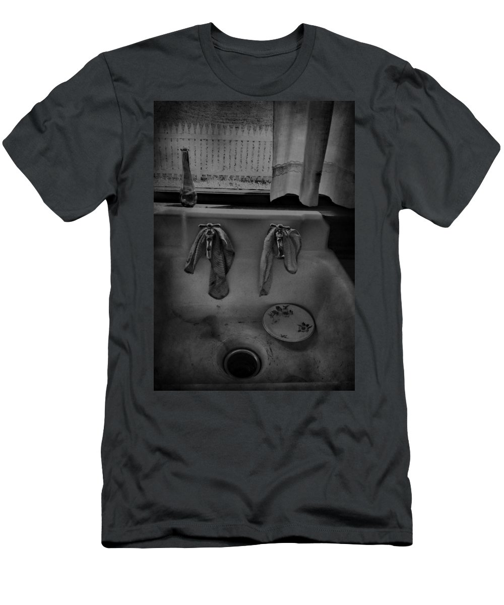 Sink Men's T-Shirt (Athletic Fit) featuring the photograph Sinking Tears by The Artist Project