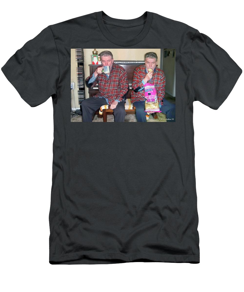 2d Men's T-Shirt (Athletic Fit) featuring the photograph Sip And Dip by Brian Wallace