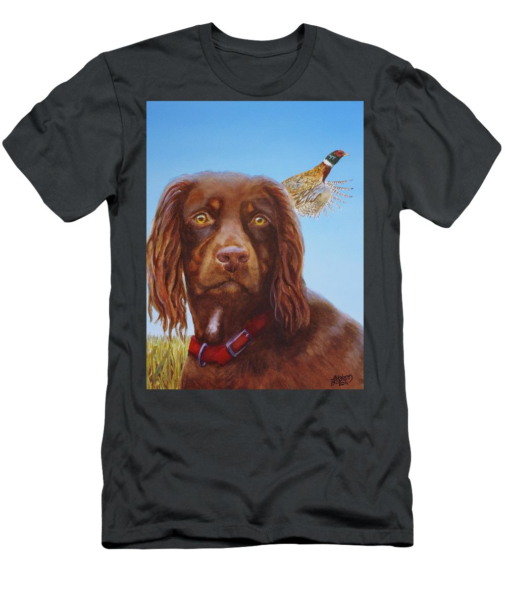 Men's T-Shirt (Athletic Fit) featuring the painting Sir Elliot by Greg and Linda Halom