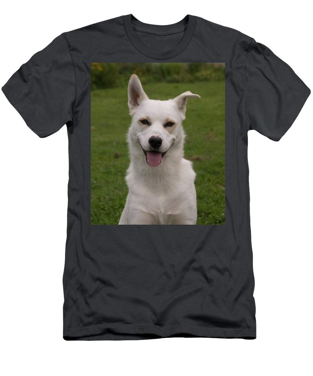 Dog Men's T-Shirt (Athletic Fit) featuring the photograph Smiley 0151 by Guy Whiteley