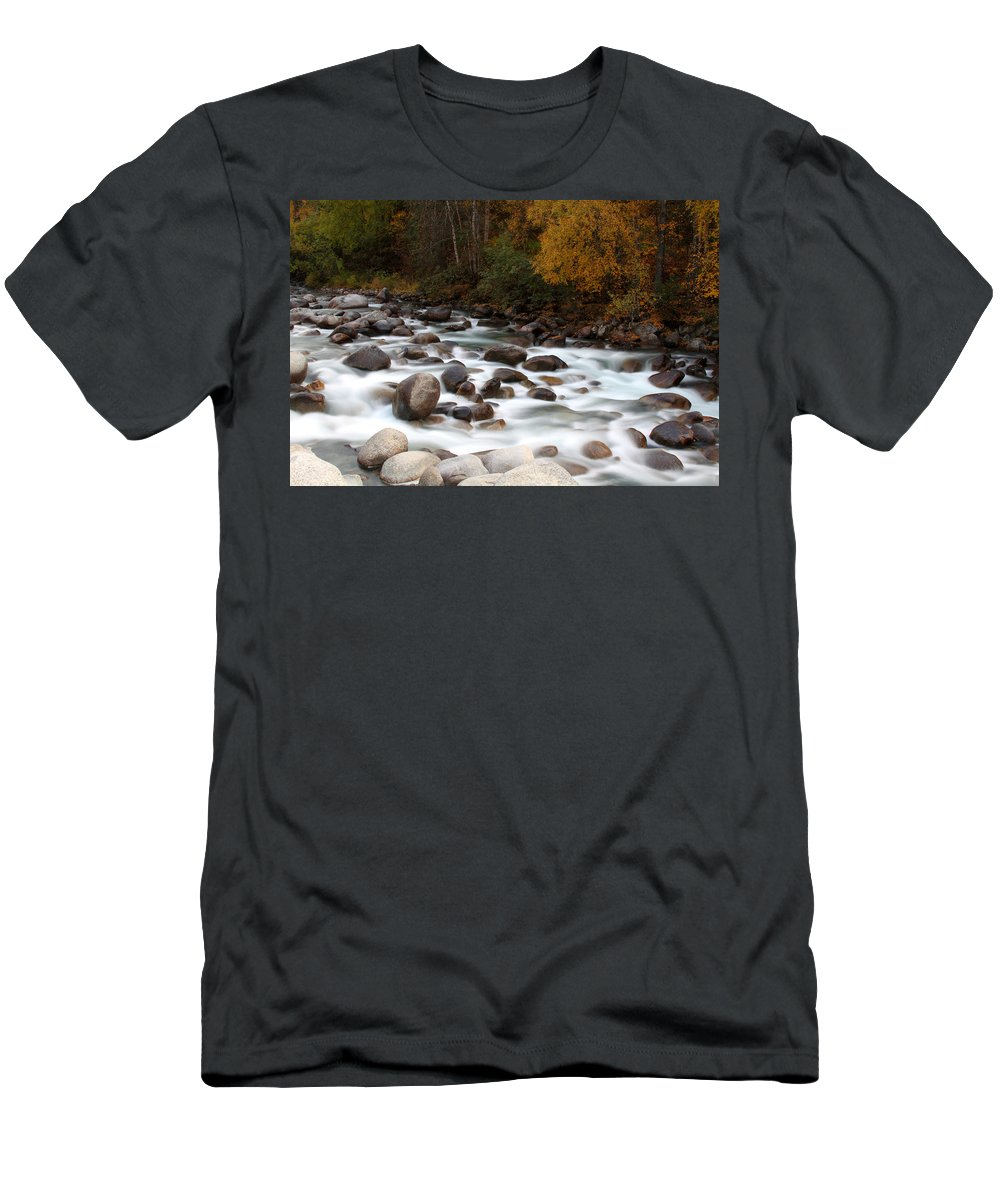 Doug Lloyd Men's T-Shirt (Athletic Fit) featuring the photograph Smokey Water by Doug Lloyd