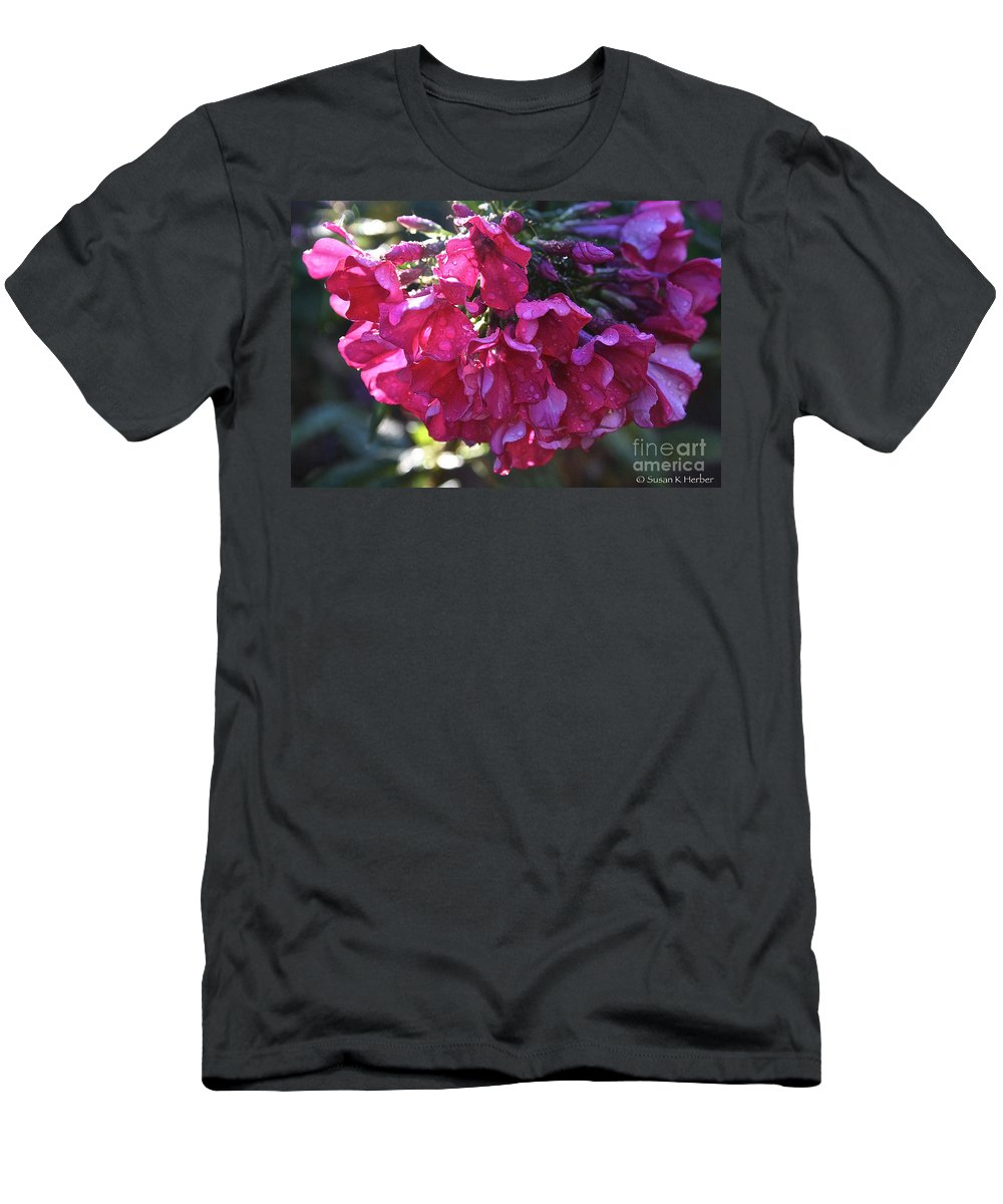 Landscape Men's T-Shirt (Athletic Fit) featuring the photograph Soaked Phlox by Susan Herber