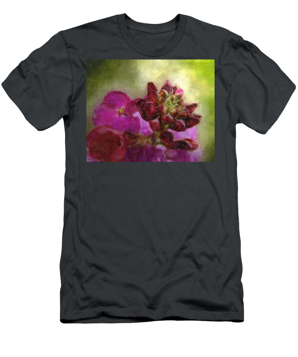 Nature Men's T-Shirt (Athletic Fit) featuring the digital art Soft Magenta by Debbie Portwood