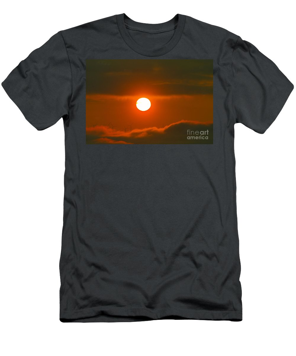 Sun Men's T-Shirt (Athletic Fit) featuring the photograph Solar And Wind by Jeff Swan