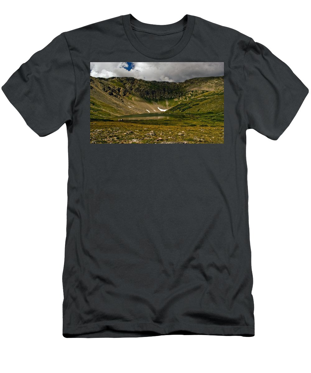 Lake Men's T-Shirt (Athletic Fit) featuring the photograph Solitude by Brian Kerls