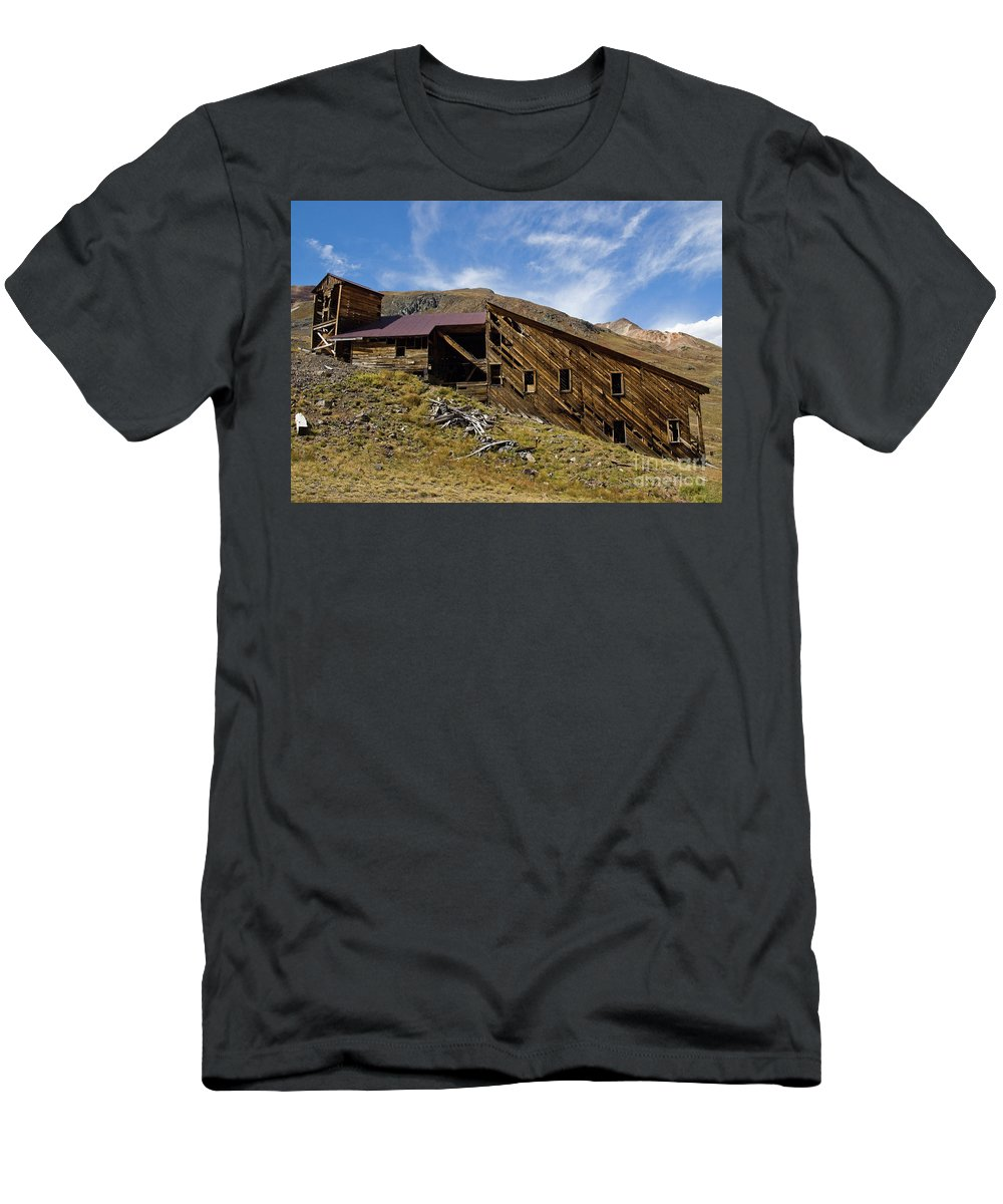 Sound Democrat Mill Men's T-Shirt (Athletic Fit) featuring the photograph Sound Democrat Mill by Tim Mulina