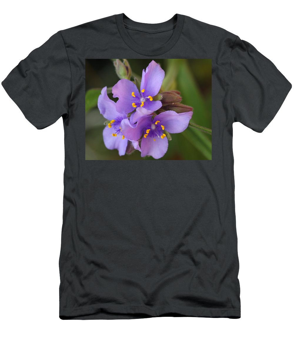Wildflower Men's T-Shirt (Athletic Fit) featuring the photograph Spiderwort by Andrew McInnes