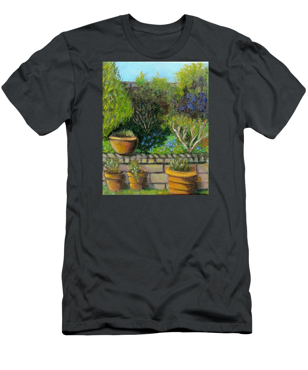 Spring T-Shirt featuring the painting Spring Emerges by Laurie Morgan