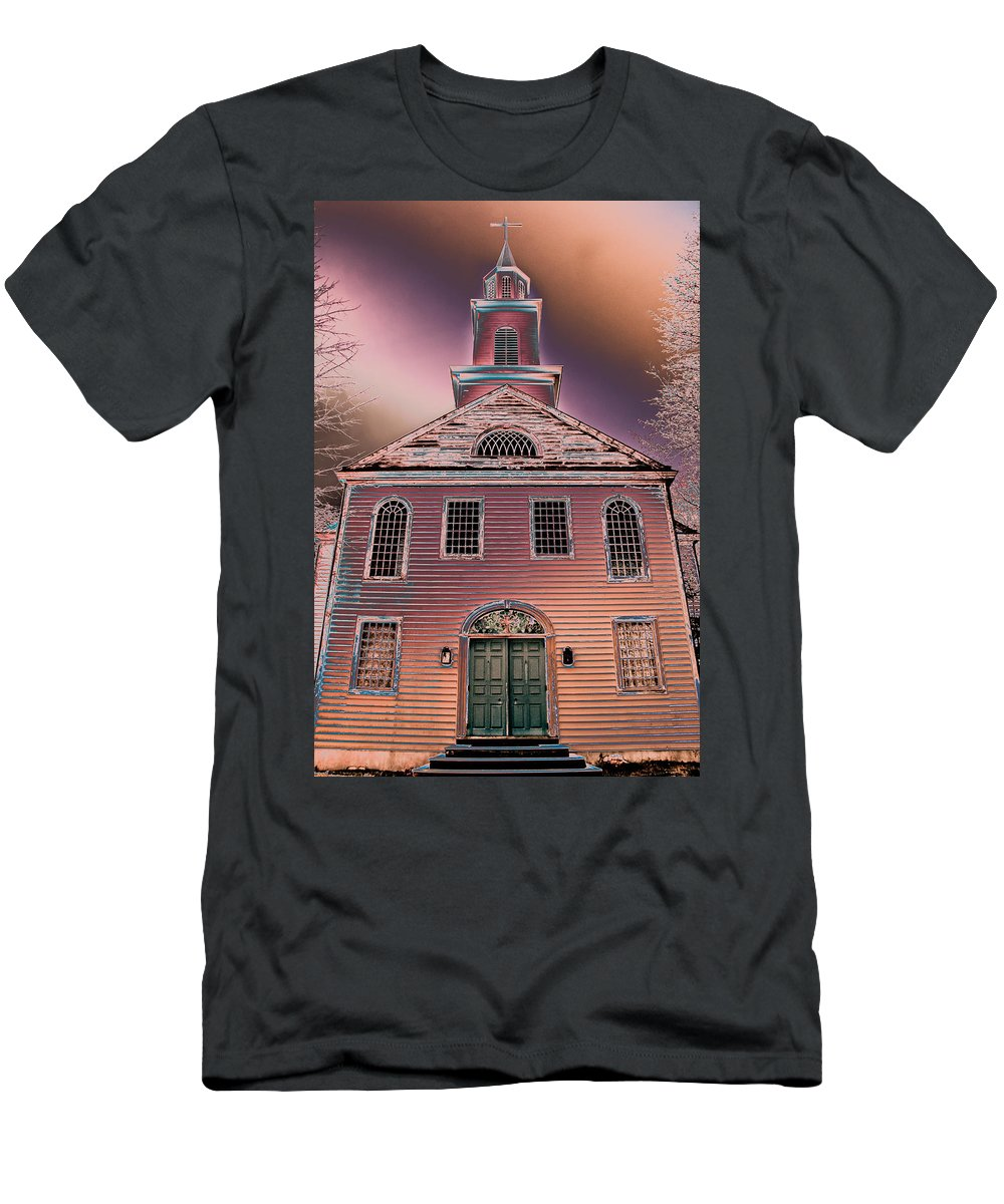 Pastel Men's T-Shirt (Athletic Fit) featuring the photograph St. Mary's Episcopal Church In Pastel by Trish Tritz