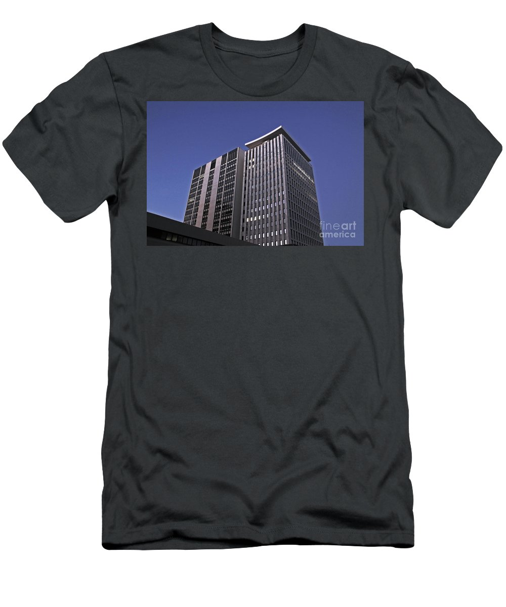 City Men's T-Shirt (Athletic Fit) featuring the photograph Stark City by Stephen Mitchell