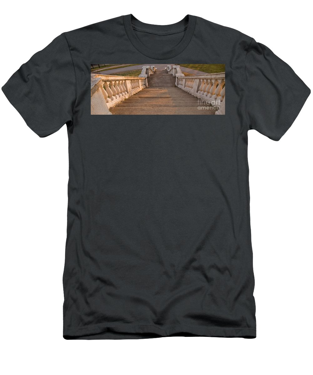 Steps Men's T-Shirt (Athletic Fit) featuring the photograph Steps by Tim Mulina