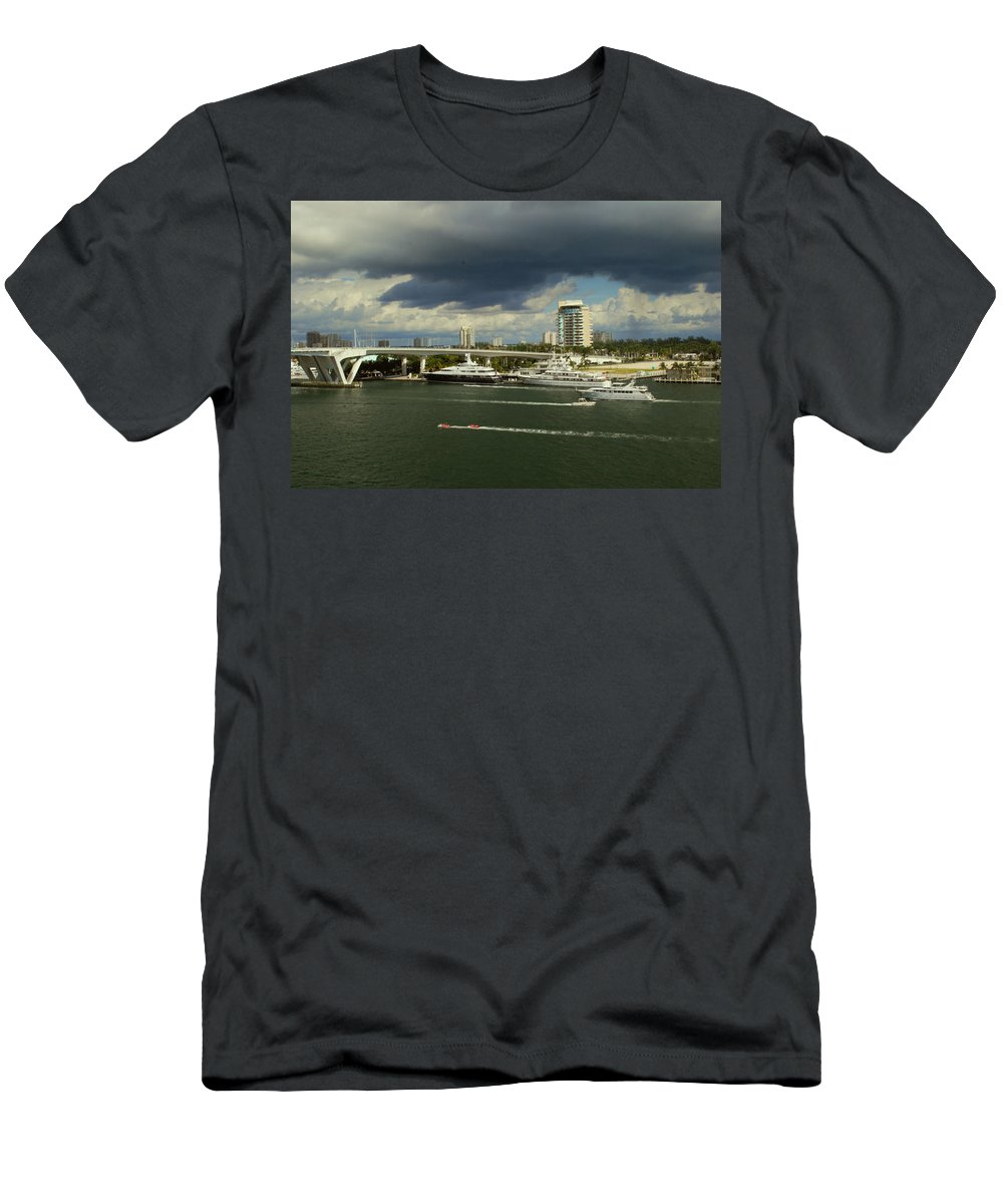 Florida Men's T-Shirt (Athletic Fit) featuring the photograph Stormy Fort Lauderdale by Gary Wonning