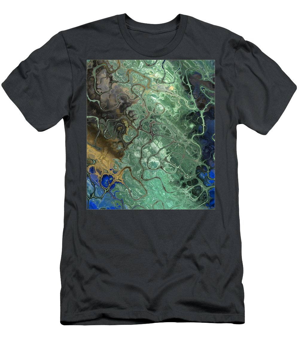 Abstract Men's T-Shirt (Athletic Fit) featuring the digital art Stormy Waterspout by Debbie Portwood