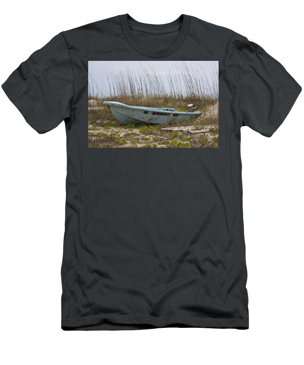 Boat Men's T-Shirt (Athletic Fit) featuring the photograph Stranded by Betsy Knapp