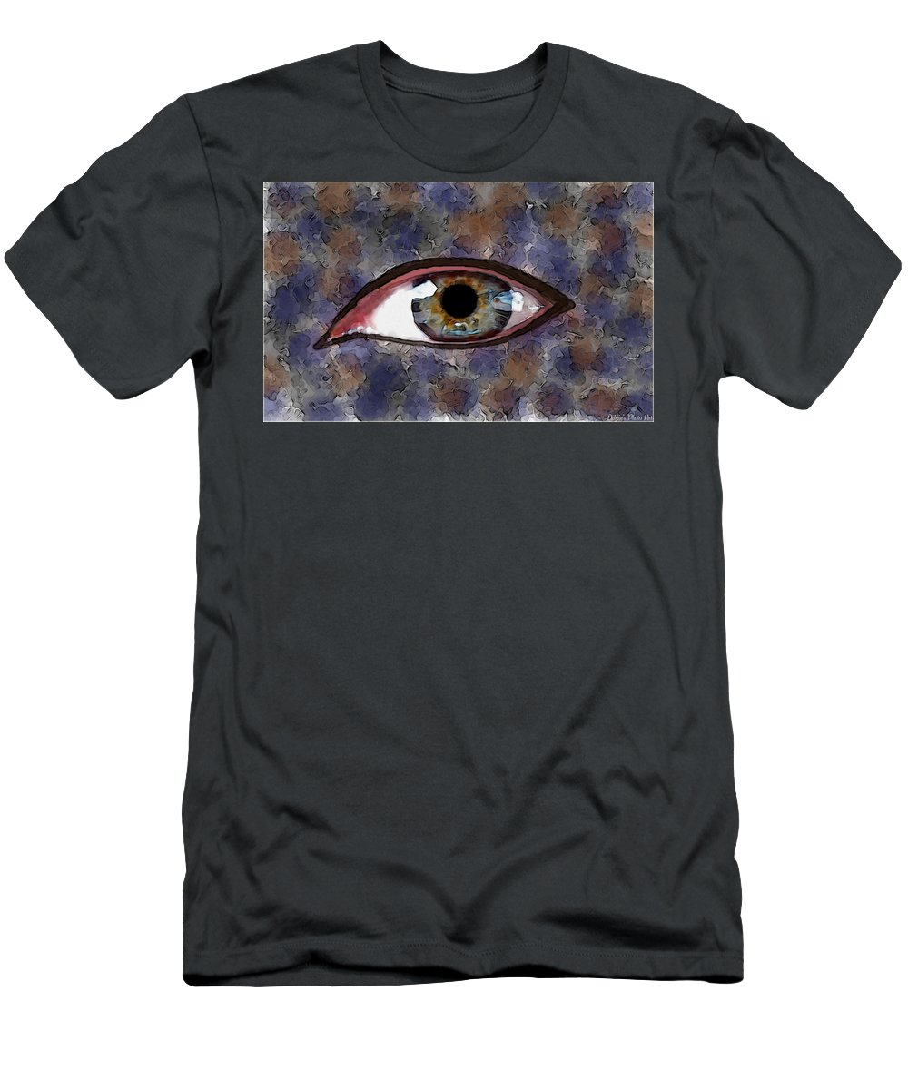 People Men's T-Shirt (Athletic Fit) featuring the digital art Strange Eye I by Debbie Portwood