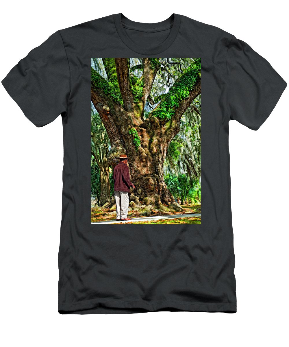 New Orleans Men's T-Shirt (Athletic Fit) featuring the photograph Strolling With Giants Painted by Steve Harrington