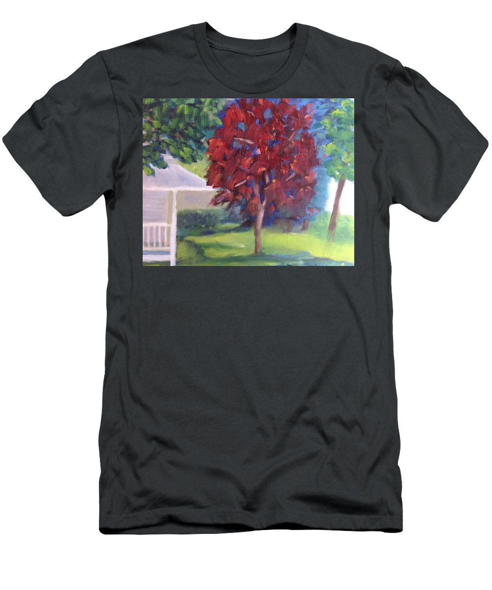 Landscape T-Shirt featuring the painting Suburban Landscape I by Patricia Cleasby