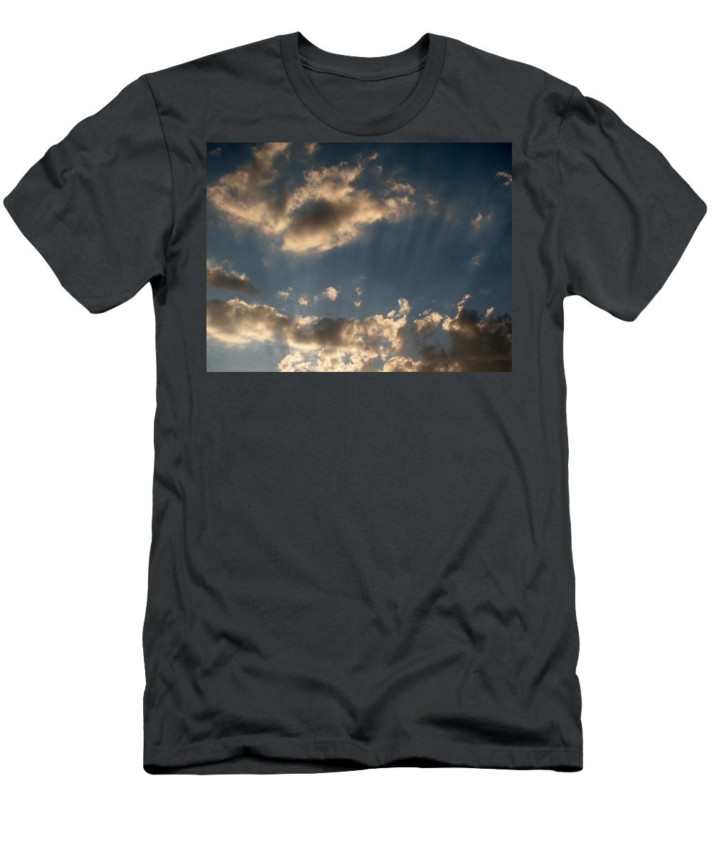 Clods Men's T-Shirt (Athletic Fit) featuring the photograph Sunbeams From Heaven by Michele Nelson