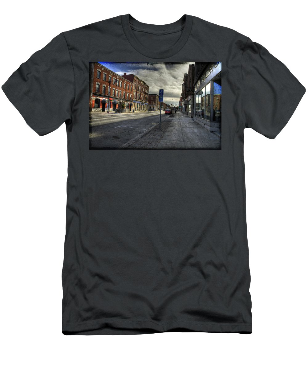 Acrylic Prints Men's T-Shirt (Athletic Fit) featuring the photograph Sunday Afternoon Cannon Practice by John Herzog