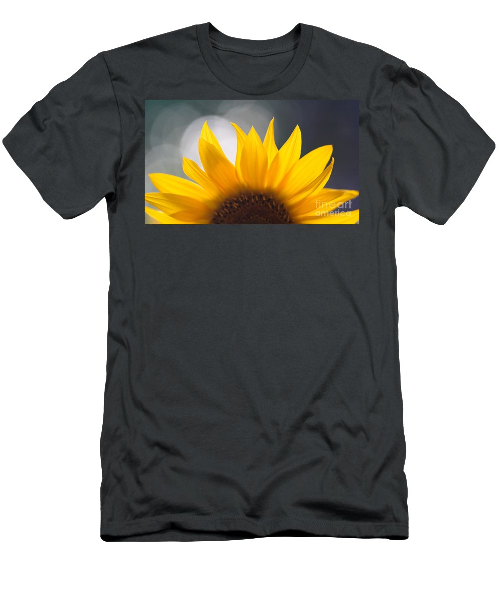 Flower Men's T-Shirt (Athletic Fit) featuring the photograph Sunflower by Kati Finell