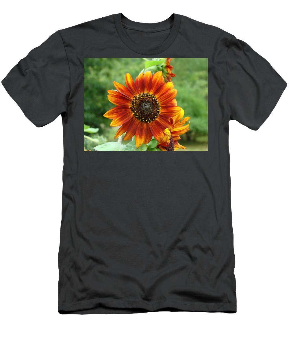 Red Sunflower T-Shirt featuring the photograph Sunflower by Lisa Rose Musselwhite