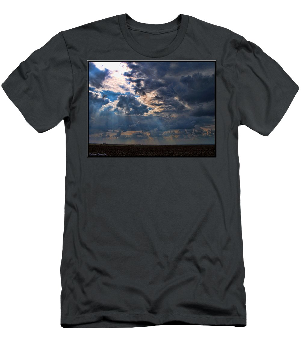 Landscape Men's T-Shirt (Athletic Fit) featuring the photograph Sunrays by Debbie Portwood